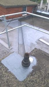 Marshwood Roof aquapol work.C. July2015